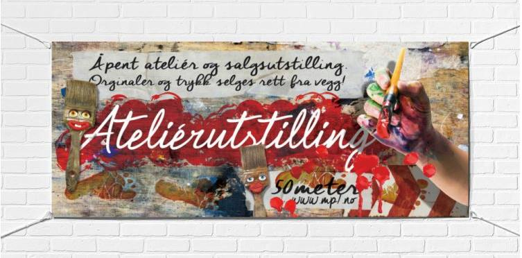 Vernissage-banner, MP7 vårutstilling 2015